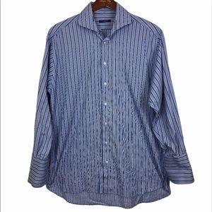 Burberry button down dress shirt blue 16.5/33 mens